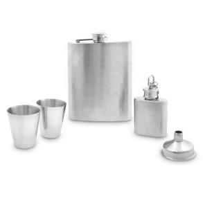 Hip Flask Set - Plain