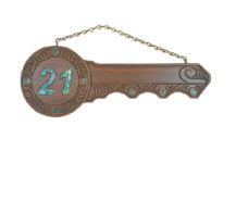21st Carved Key (#421)