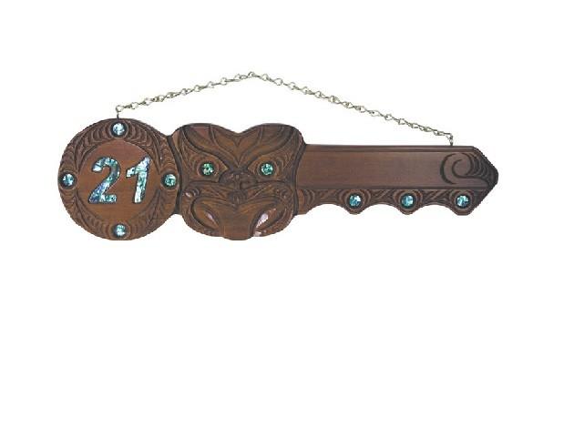 21st Carved Mask Key (#435)