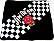 Jim Beam Polar Fleece Throw Rug