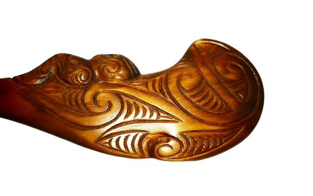 Carved Kauri Wahaika on Base (21st - Small)