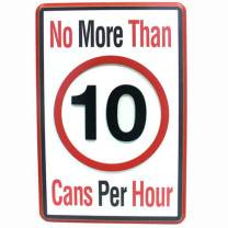 Wall Sign: 10 CANS