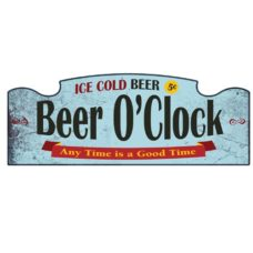 Wall Sign: Beer O'Clock