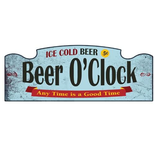 Wall Sign - Beer O'Clock