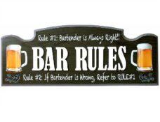 Wall Sign - Bar Rules