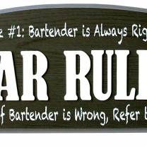 Wall Sign - Bar Rules