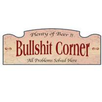 Wall Sign - Bullshit Corner