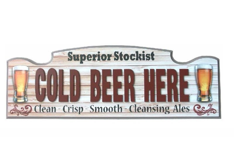 Wall Sign - Cold Beer Here