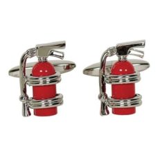 Cufflinks - Fire Extinguisher