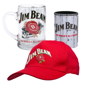 Jim Beam Cap, Can Cooler and Stein