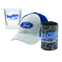 Ford Spirit Glasses, Can Cooler & Cap Gift Pack