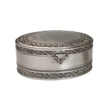 Jewel Box: Oval (Pewter Finish)