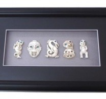 Frame with 5pc Bone Colour Pendants
