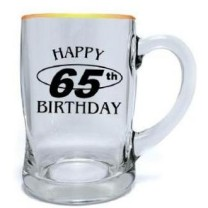 Birthday Beer Mug (450ml) Milestone Ages