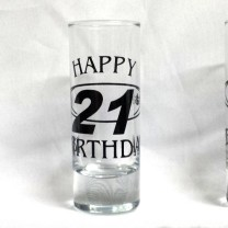 Birthday Shooter Glass (50ml) Milestone Ages