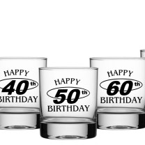 Birthday Spirit Glass (300ml) Milestone Ages