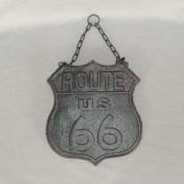 Cast Iron Route 66 Sign
