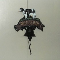 Cast Iron Cow Welcome Bell