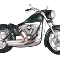 Metal Wall Art: Green Muscle Bike