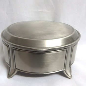 Jewel Box: Pewter Oval
