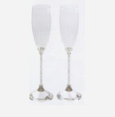 Champagne Glass Set – Gem Stems