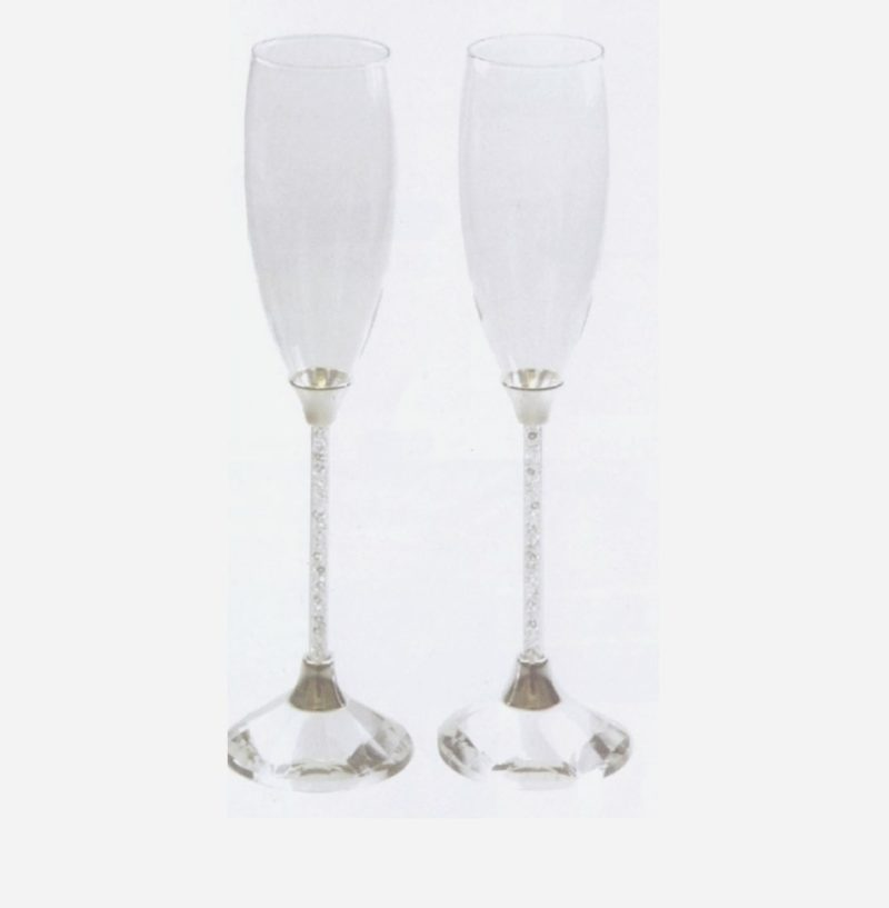 Champagne Glass Set - Gem Stems