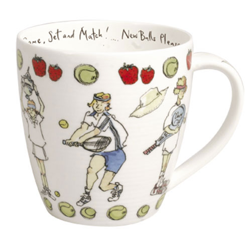 Bone China Mug: Tennis