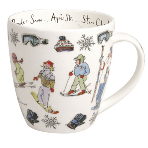 Bone China Mug: Skiing