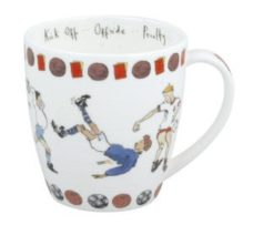Bone China Coffee Mug: Football