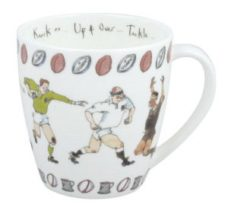 Bone China Coffee Mug: Rugby