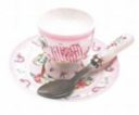 Pink Elephant Egg Cup Set