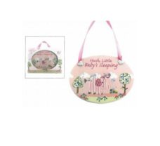 Pink Elephant Baby Plaque