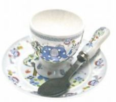 Blue Elephant Egg Cup Set
