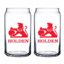 Holden Heritage Set of 2 Can Shaped Glasses
