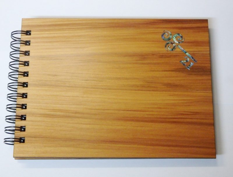 Wooden 21st Guestbook