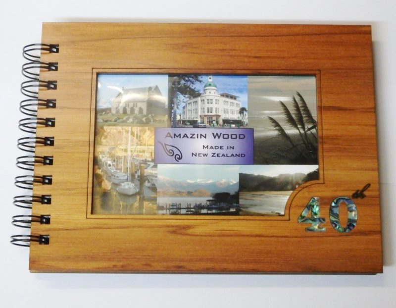 Wooden 40th Guestbook Photo Frame