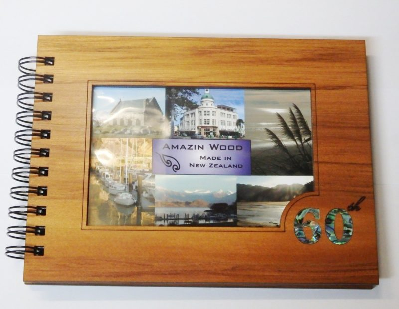 Wooden 60th Guestbook Photo Frame