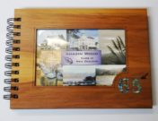 Wooden 65th Guestbook Photo Frame