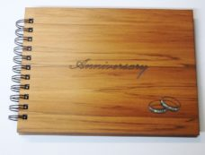 Wooden Anniversary Guestbook