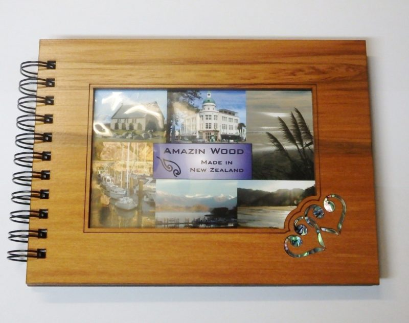 Wooden Hearts Guestbook Photo Frame