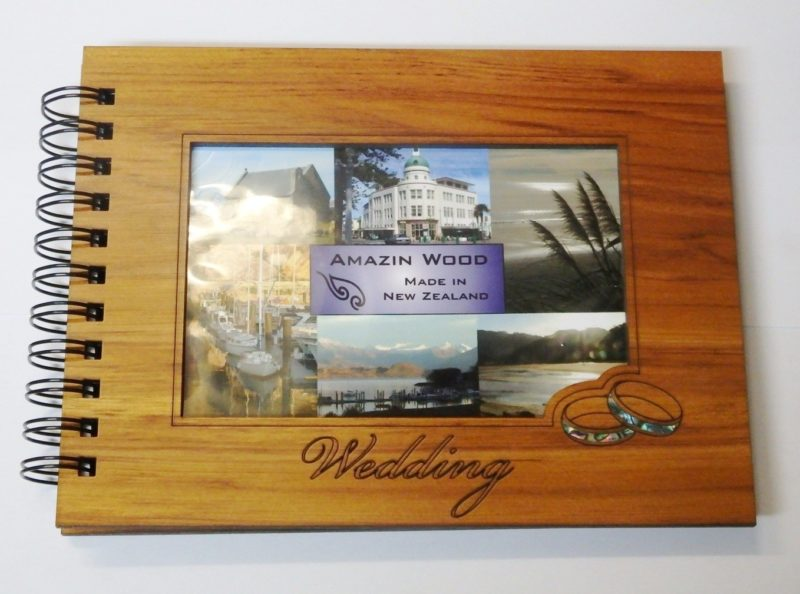 Wooden Wedding Guestbook Photo Frame