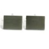 Cufflinks - Plain Rectangle (Engravable)
