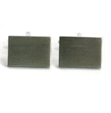 Cufflinks – Plain Rectangle (Engravable)