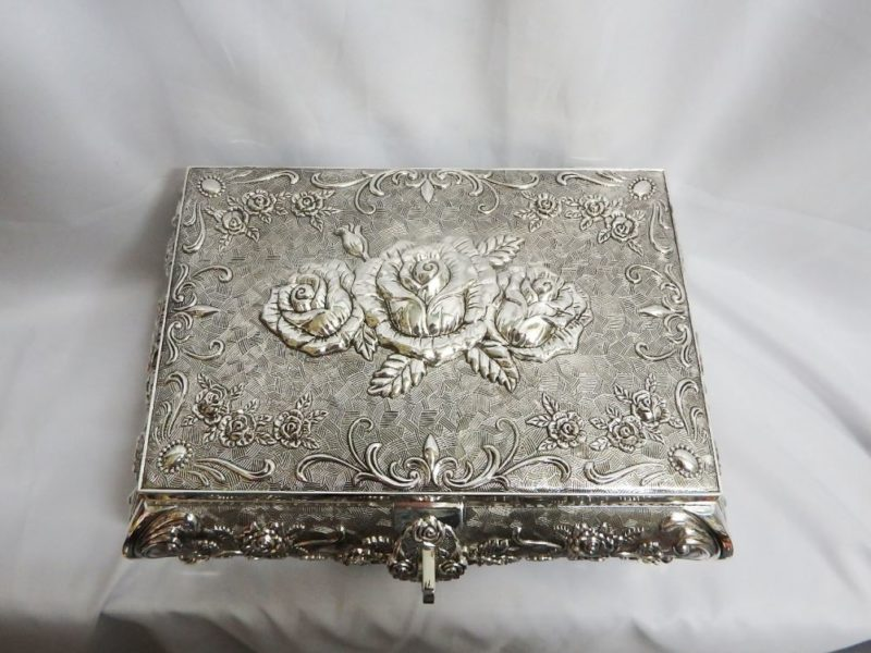 Jewellery Box Queen Anne (Silver Plated)