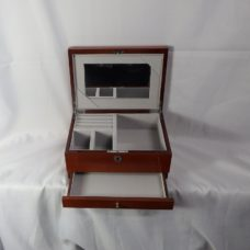 Jewellery Box Burle Walnut Finish (Large)