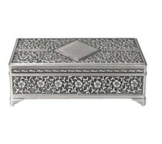 Jewel Box: Rectangle Diamond Centre (Pewter Finish)