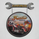 Metal Sign: Motorbike with Spanner