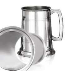 Tankard Glass Bottom (Pewter)
