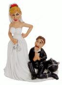 Novelty Figure: Wedding Couple Ball & Chain
