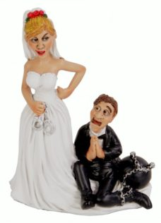 Novelty Figure: Wedding Couple Ball & Chain